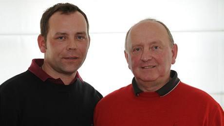 Dva muži stejného jména Karel Skopový - otec a syn, oba golfoví profesionálové.