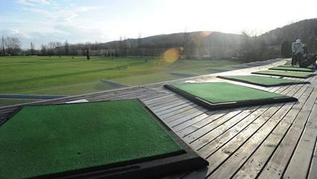 Driving range golfového klubu Hodkovičky.