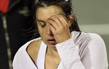 UŽ NEMŮŽU. Marion Bartoliová pro nemoc vzdala čtvrtfinále v Charlestonu
