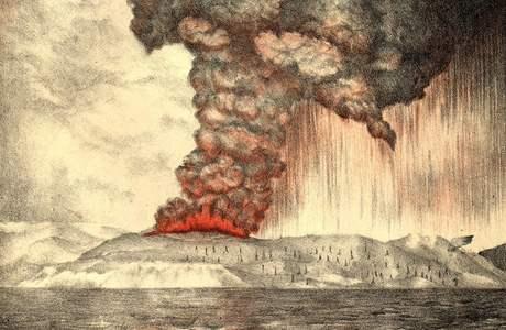 Výbuch sopky Krakatoy