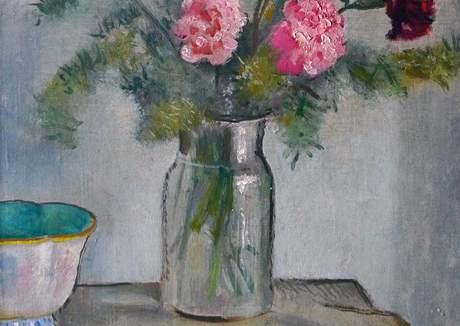Klenová - Normalizační galerie: Otakar Kubín (1883-1969), Karafiráty (nedatováno), olej na plátně