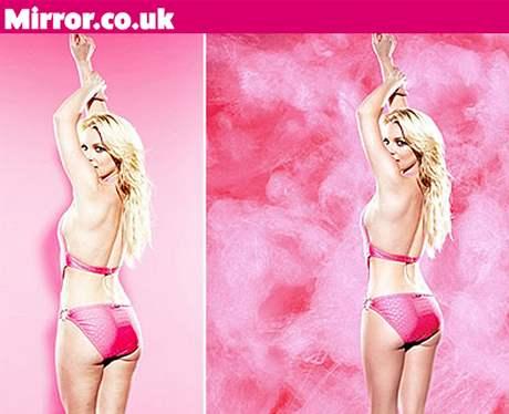 Britney Spears skutečná a retušovaná