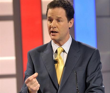 Vůdce liberálních demokratů Nick Clegg.