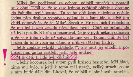 Pasáž z knihy o kocouru mikešovi, která je podle sdružení Roma Realia rasistická.