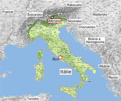 Mapa Itálie
