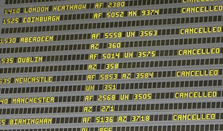 Výbuch islandské sopky ochromil leteckou dopravu (15. dubna 2010)