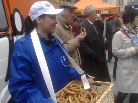 Z předvolebního mítinku ODS v Praze, duben 2010.