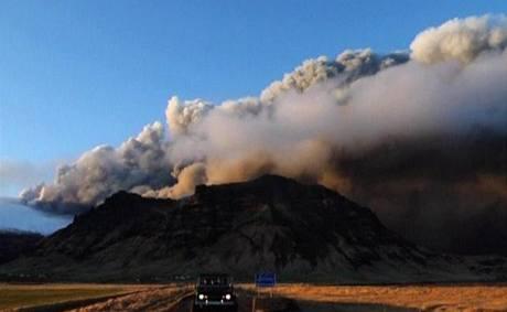 sopka Eyjafjallajökull 2
