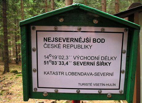 Nejsevernější místo ČR