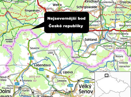 Nejsevernější bod ČR