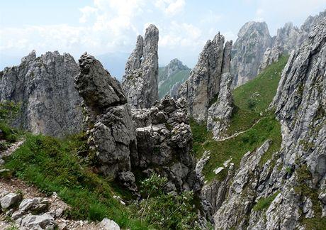 Itálie, na Diretissimě v masivu Grigna Meridionale (Como)