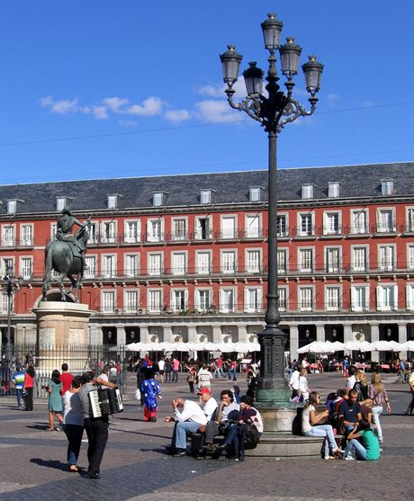 Španělsko, Madrid. Plaza Mayor (Kastilie)