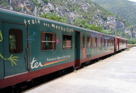 Francie, Train des Merveilles (Vlak zázraků) ve stanici Fontan-Saorge (Mercantour)