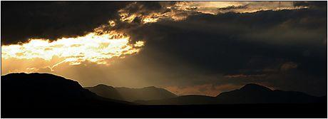 Norsko, Národní park Rondane, západ slunce