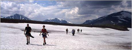Norsko, Národní park Rondane, na sněhových polích