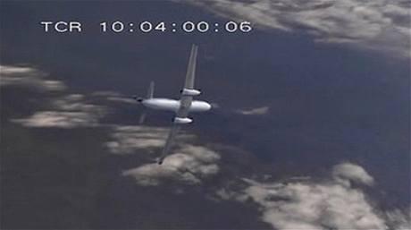 Letoun Convair 340-580 při letu Partnair 394 ztrácí výšku