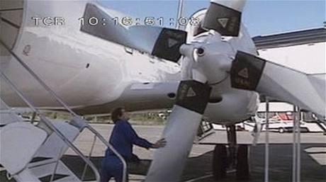 Letounu Convair 340-580 byl přidán turbovrtulový pohon