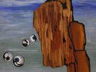Obraz malířky Toyen nazvaný Zbytek noci