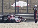 Trénink Velké ceny Bahrajnu, havárie Švýcara Buemiho (Toro Rosso)
