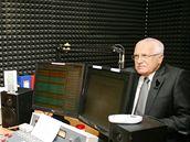 Václav Klaus ve studiu rádia Petrov