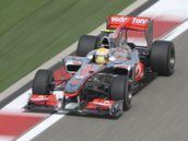 Lewis Hamilton na trati Velké ceny Číny.