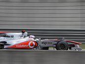 Jenson Button ze stáje McLaren na trati Velké ceny Číny.