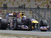 Mark Webber ze stáje Red Bull na trati Velké ceny Číny.