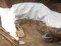 Kruhový tvar by měl odolávat tlaku hlíny