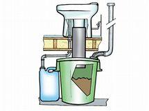 Některé modely kompostovacích toalet umožňují sbírat exkrementy ve sklepě