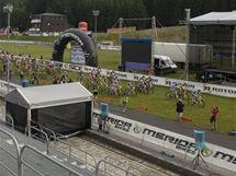 Areál závodu Merida Bike Vysočina v Novém Městě na Moravě