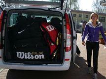 Tenistka Petra Kvitová před odjezdem k semifinále Fed Cupu do Říma