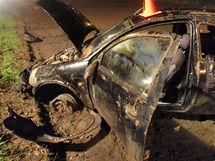 Nehoda vozu značky Ford Ka u Bílan na Kroměřížsku (13.4.2010)
