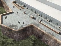 Návrh řešení terasy na hradě Špilberk