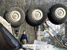 Místo havárie Tupolevu TU-154M u ruského Smolensku. V letadle zahynuly polské politické špičky včetně prezidenta Kaczynského. (12. dubna 2010)