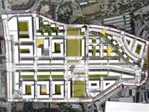 Urbanistická studie, jež byla podkladem návrhu na změnu územního plánu, který MČ Praha 3 podala v roce 2008. V současnosti není schválený územní plán Prahy, tedy ani konečná podoba areálu, kde dnes stojí překladiště.