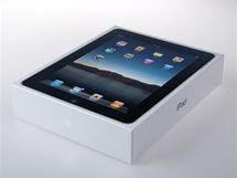 Krabička s iPadem - bílá, jednoduchá, applovská