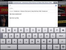 Safari - poslat odkaz na otevřenou stránku mailem