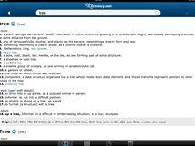 iPad - Dictionary