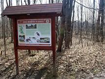 Zastavení nové naučné stezky u osady Na Kamenici