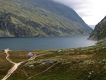 Norsko, Národní park Rondane, jezero Rondvatnet