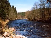 Řeka Otava u Rejštejna