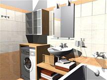 Koupelna, šatna a předsíň v novostavbě