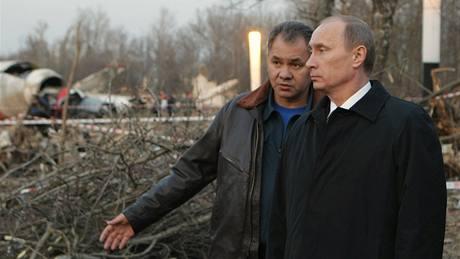Ruský premiér Vladimír Putin navštívil místo nehody polského prezidentského letadla