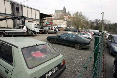 Odtahové parkoviště Malá Amerika v Brně