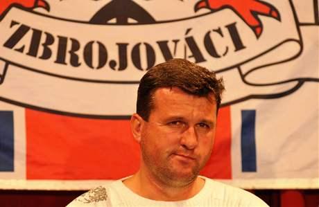 Setkání veteránů fotbalového týmu Zbrojovka s fanoušky v Brně - na snímku Jan Maroši.