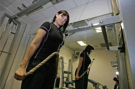 Trenérka ve fitness Ladies Gym Eva Šimůnková