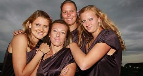 ŘÍMSKÉ BOHYNĚ. Lucie Šafářová, Květa Peschkeová, Lucie Hradecká, Petra Kvitová