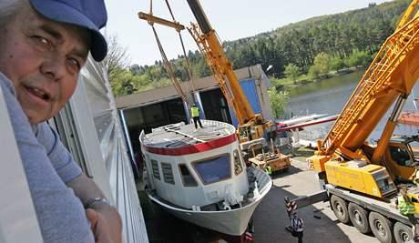 Nová loď na elektrický pohon pro Brněnskou přehradu - Lipsko,se na hladině představí 8. května.