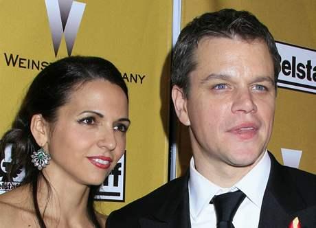 Matt Damon s manželkou