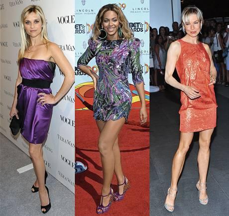 Reese Witherspoon, Beyoncé a Renée Zellweger.